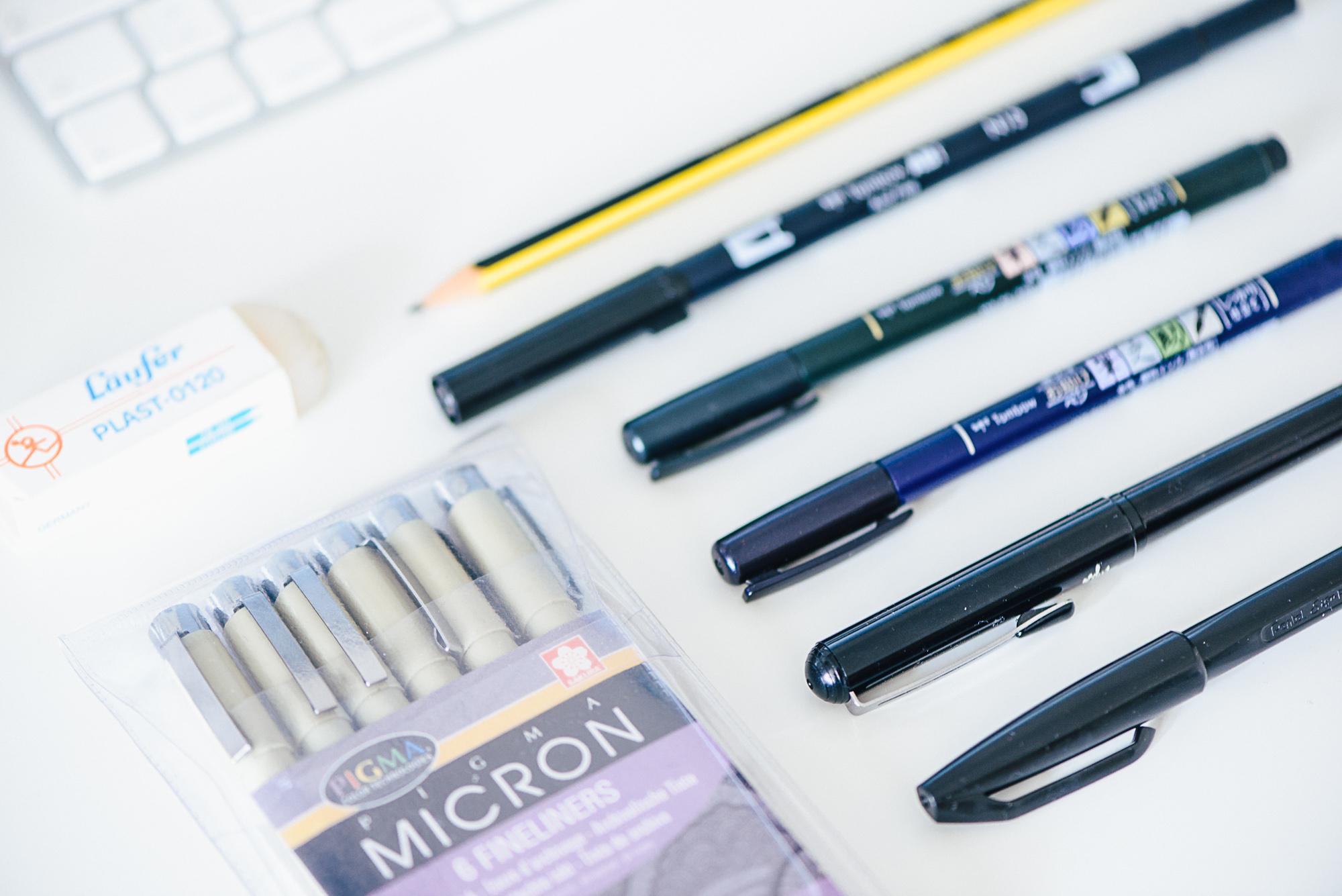 Lettering_lernen Stifte