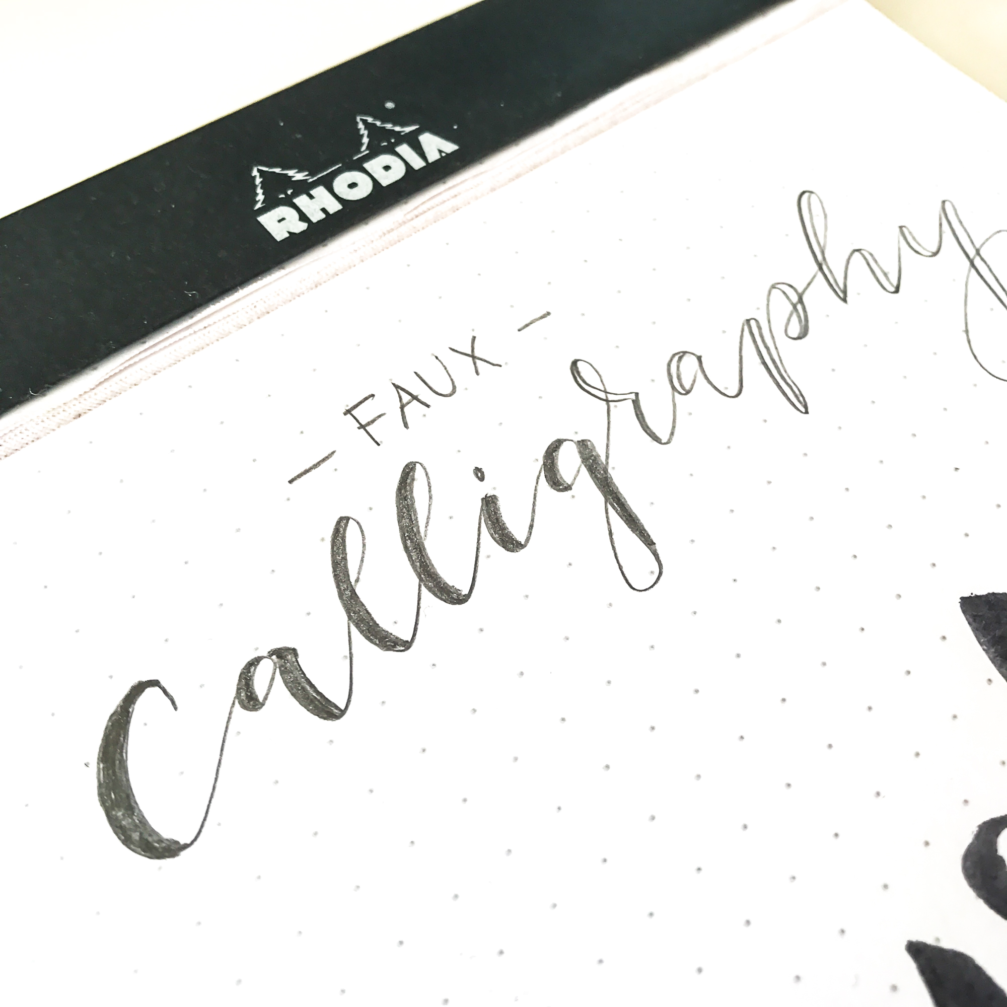 Lettering_lernen- Faux Calligraphy